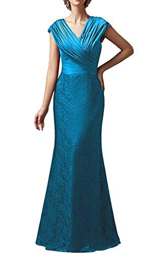 Schwarz Bodenlang La Braut Aermellos Spitze Partykleider Marie Abendkleider Etuikleider Blau Brautmutterkleider 8fEfqZ