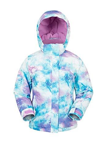 Mountain Warehouse Enchanted Kids Printed Ski Jacket - Winter Coat Purple 3-4 Years