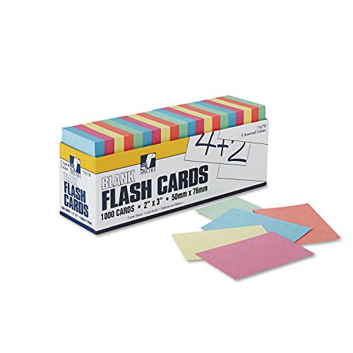 Pacon Products - Pacon - Blank Flash Card Dispenser Boxes, 2w x 3h, Assorted, 1000/Pack - Sold As 1 Pack - Sturdy unruled tagboard strips. - Assorted colors help categorize groups of words. - Packed in easy access dispenser box.