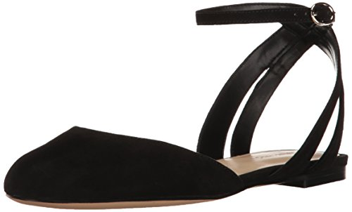 Flat Ballet Women's Suede Black Begany Nine West pfq4qa
