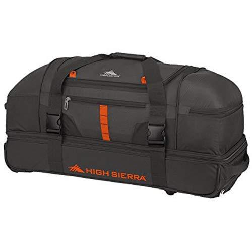 "High Sierra Evolution Drop Bottom Wheeled Duffel Bag, Mercury/Redline, 30"""
