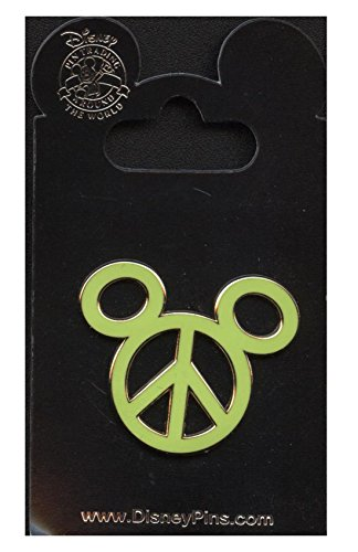 Yellow Peace Sign Mickey Mouse Icon Disney Pin by Disney