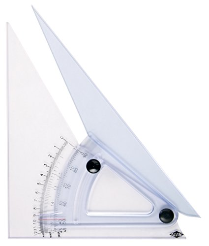 Alvin, Trig Scale Adjustable Triangle with Inking Edge, 10 Inches