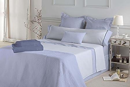 Don Algodón.- Juego de sábanas Gisele color Azul para cama de 135 ...