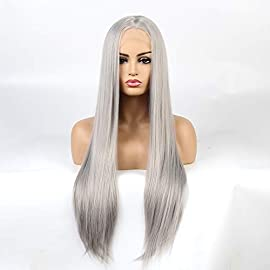 Life Diaries Ombre Blonde Brown Roots Kanekalon Nature Wave High Density Heat Resistant Fiber Bleached Knot Glueless Large Part Space Transparent Lace Front Synthetic Wig For Women 22 INCH