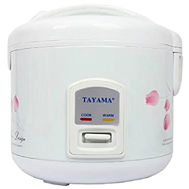TRC-10 Cool Touch 10-Cup Rice Cooker and Warmer with Steam Basket, White