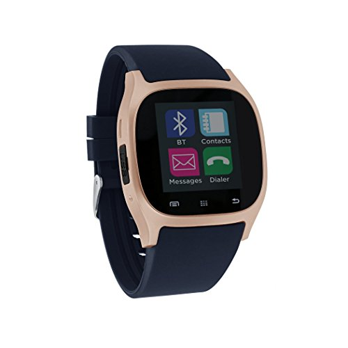 Smart Watch I-Touch Screen Bluetooth with Pedometer Analysis Sleep Monitoring for Samsung Galaxy Android Apple iPhone iOS LG Google Nexus Smartphone (NAVY/GOLD)