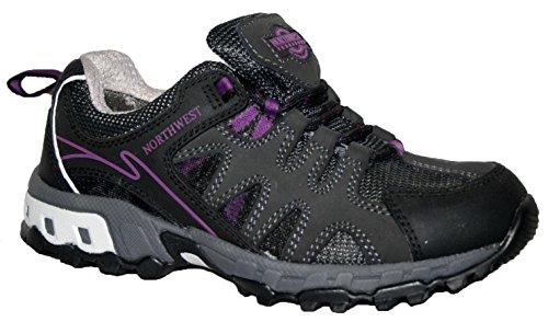 Territory À Imperméable randonnée Hope Lacets Noir violet Northwest Marche Trainer Chaussure Femmes Entièrement 0n10d6