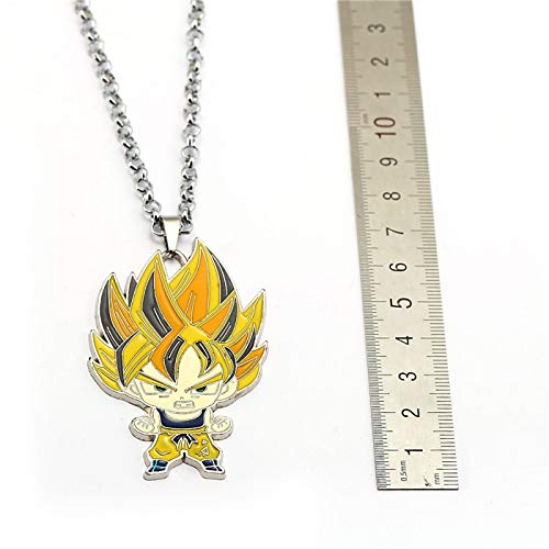 Necklace for Men Dragon Ball Z Necklace Super Saiyan Son Goku Pendant Fashion Link Chain Men Women Necklaces Charm Gifts Anime Jewelry