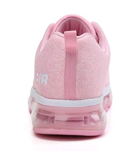 all'Aperto Donna Corsa Casual Sportive Fitness Ginnastica Basse Interior Air Sneakers Scarpe Rosa Running Uomo da OwnxqdadX