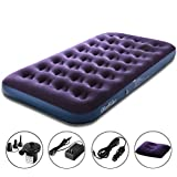 OlarHike Queen/Twin Air Mattress, Inflatable Blow Up Air Mattress for Guests, Raised Elevated Double/Single High Airbed, 2 Year Warranty