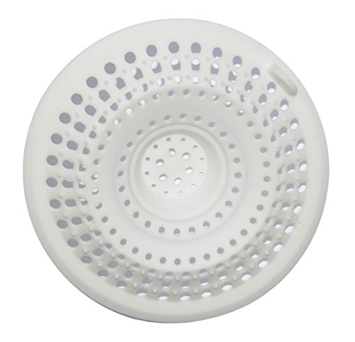 Excelity 174 Drain Protector Hair Catcher Drain Cover White