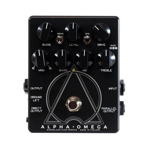 Darkglass Alpha Omega Bass Preamp and Overdrive Limited Edition Black/White