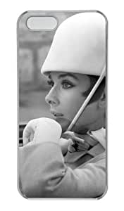 Audrey Hepburn iPhone 5 5S Custom Case Cover, case for iPhone 5 5S by vipcustomonline