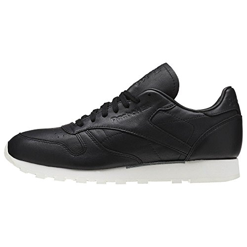 Reebok Hombres Cl Leather Omn, Negro / Blanco Clásico Negro / Blanco Clásico