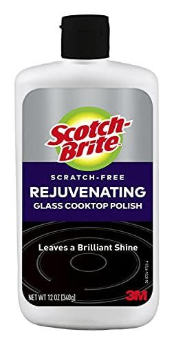 Scotch-Brite Stovetops, Chemical, (Pack of 1) Scratch-Free Rejuvenating Glass Cooktop Polish, Leaves a Brilliant Shine, 12 Ounces