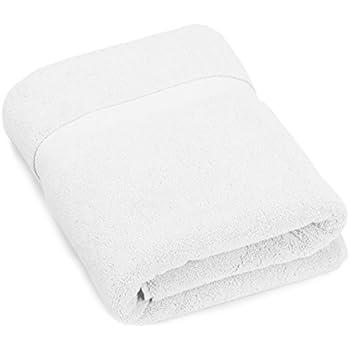 white bath towel. pinzon heavyweight luxury 820-gram bath towel - white