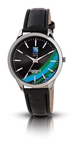Producto oficial de la Copa del Mundo de Rugby RWC reloj de los hombres de color negro de la esfera: Amazon.es: Relojes