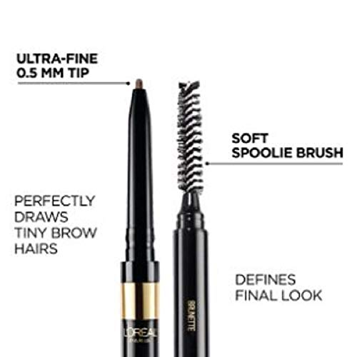 L'Oreal Paris Makeup Brow Stylist Definer Waterproof Eyebrow Pencil, Ultra-Fine Mechanical Pencil, Draws Tiny Brow Hairs…
