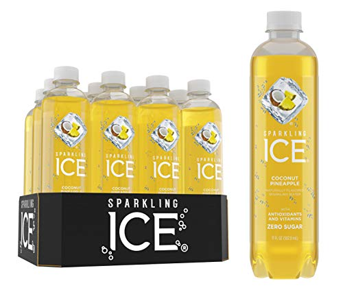 Sparkling Ice, Coconut Pineapple Sparkling Water, with antioxidants and vitamins, Zero Sugar, 17 FL OZ Bottles (Pack of 12) from Sparkling ICE