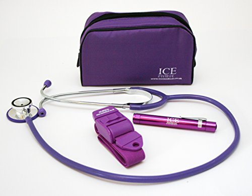 ICE Medical Purple LED Medical Pen light / Pen torch Stet...