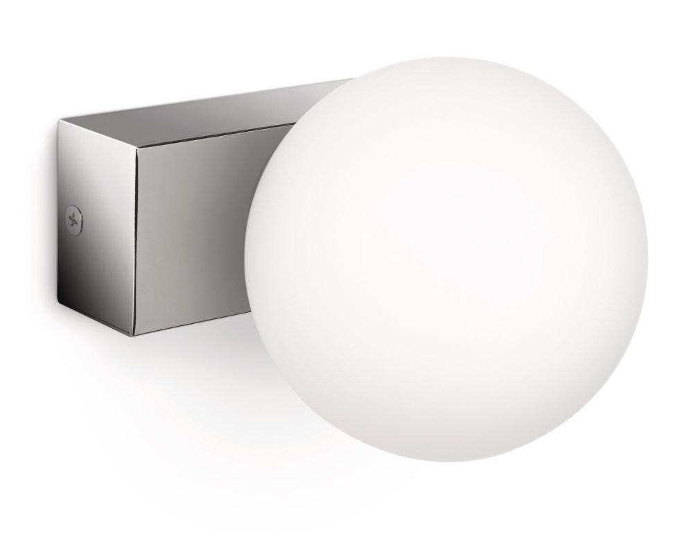 Philips myBathroom Drops - Aplique para baño en cristal y metal bombilla de bajo consumo incluida de 42 W equivalente a una de 60 W en incandescencia [Clase de eficiencia energética D] 340541116 armario bañoeasy cocina