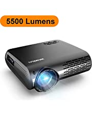"""Proyector, WiMiUS 6000 Lúmenes Proyector Full HD 1920x1080P Nativo Proyector Video Compatible 4K Pantalla 300 """" Ajuste Digital 70,000 Horas Proyector LED para Cine en Casa y Presentación Empresarial"""
