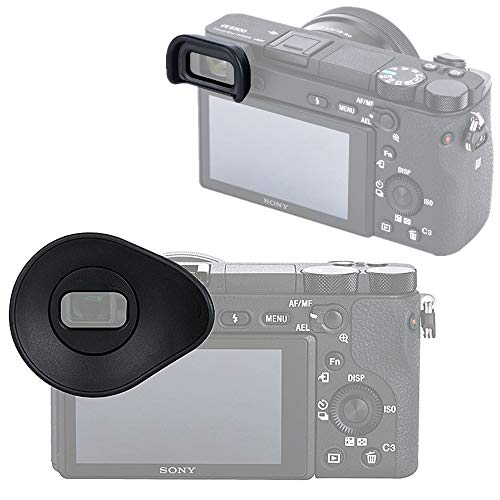 2 Pack (Compact + Oval Shape) Camera Eyecup Eyepiece Eyeshade Viewfinder Sunshade Cover for Sony A6400 A6500, Replaces Sony FDA-EP17 FDAEP17 Eye ()