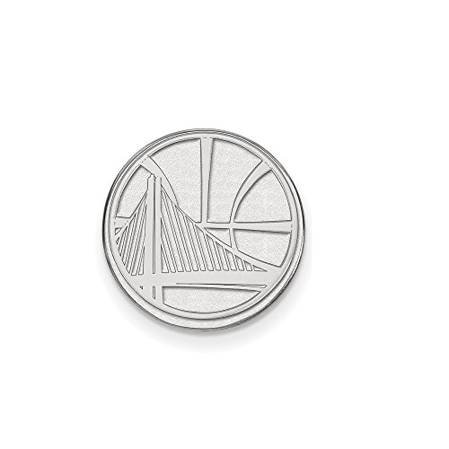 NBA Golden State Warriors Lapel Pin in 14K White Gold by LogoArt
