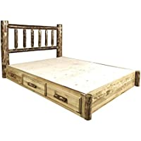 Montana Woodworks MWGCSBPK Glacier Country Collection King Platform Bed with Storage