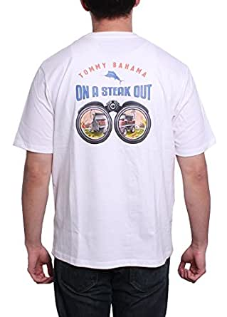 Tommy bahama on a steak out t shirt white for Tommy bahama florida shirt