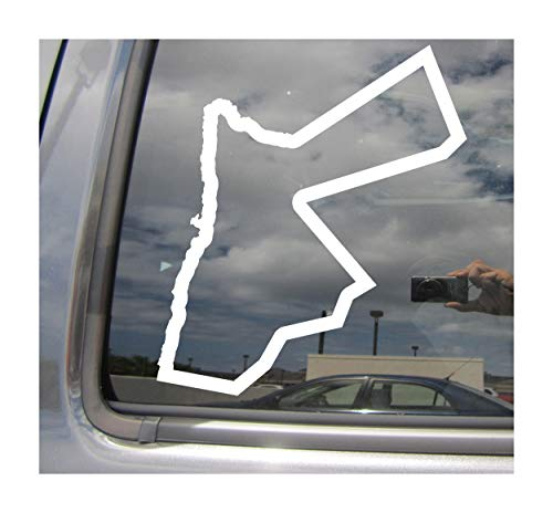 Right Now Decals Jordan Country Outline - JO Amman Middle East - Cars Trucks Moped Helmet Hard Hat Auto Automotive Craft Laptop Vinyl Decal Store Window Wall 07190