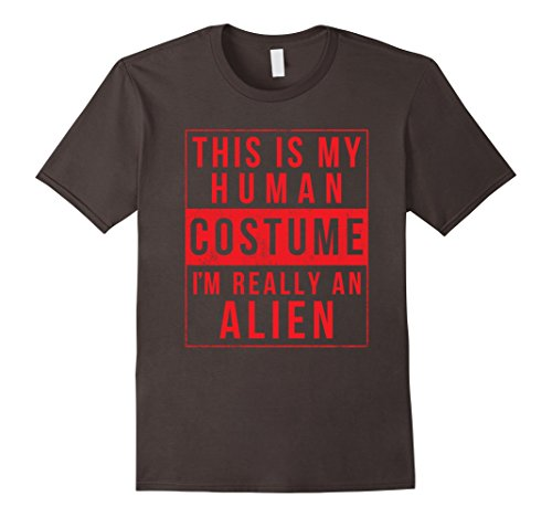 Mens Alien Halloween Costume Shirt Funny UFO Easy for Men Women 3XL Asphalt