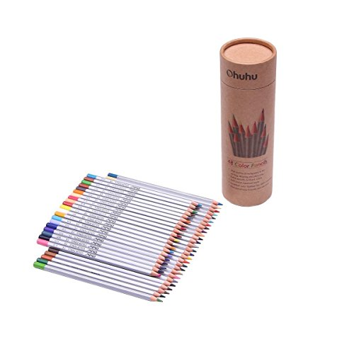 Portable Gift Colorful pencil set Artist School Children Checklist Drawing Equipment Hobby Art Imagination Learning Kid Love Drawing Novelty Gift Box 24+24 pcs W/Sharpener AR1-2