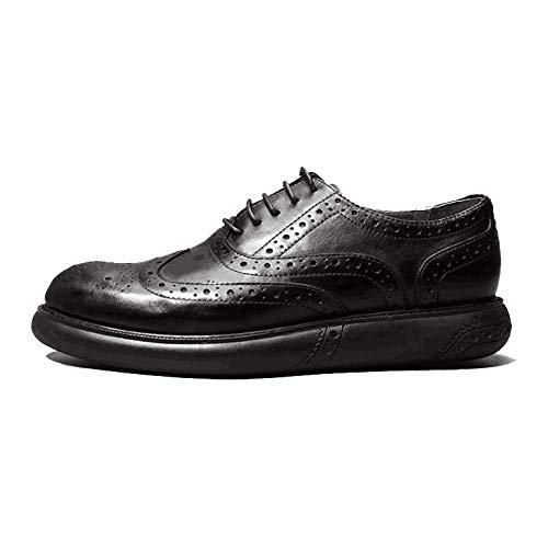 NIUMT Moda, Inghilterra, Vintage, Intagliato, Scarpe Marea, Scarpe Oxford Black