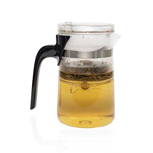 TEASPEC Lazy Pour, Glass Teapot with removable infuser, 500ml (Adagio Teas Glass Teapot)