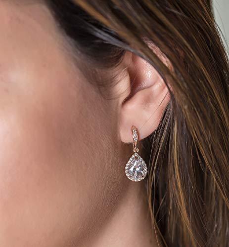 e302bda23 AMY O Wedding Bridesmaids Gift Drop Earrings or Jewelry Set in Silver,  Yellow Gold, Rose.