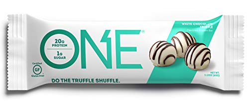 ONE Protein Bar White Chocolate Truffle 2.12 oz. (12 Pack) Gluten-Free Protein Bar with High Protein (20g) and Low Sugar (1g) Guilt Free Snacking for Healthy Diets