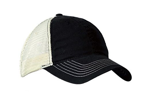 KC Caps Adjustable Two Tone Heavy Washed Cotton Twill Low Profile Mesh Retro Cap