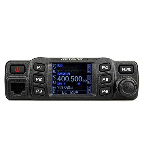 [해외]Retevis RT95 모바일 햄 라디오 듀얼 밴드 VHF136-174 UHF430-490 MHz 25W 200CH CTCSS DCS DTMF 모바일 트랜시버 (검정, 1 팩)/Retevis RT95 Mobile Ham Radio Dual Band VHF136-174 UHF430-490 MHz 25W 200CH CTCSS DCS DTMF Mobile Transceiver (...