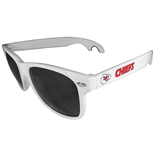 Siskiyou NFL Kansas City Chiefs Beachfarer Bottle Opener Sunglasses, White ()