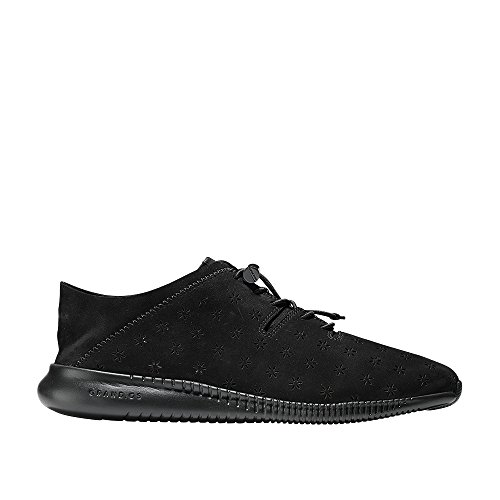 Cole Haan Womens Studiogrand P&g Trainer Fashion Sneaker Black Perforated-black
