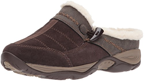 Efrost Mule, Brown/Brown Suede, 9.5 M US (Easy Spirit Leather Clogs)