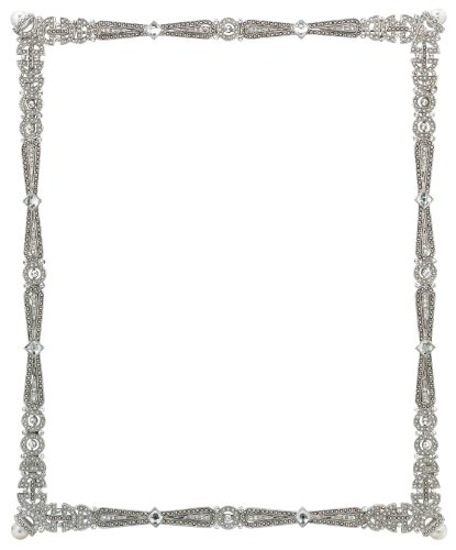 Faux Pave Diamond (Olivia Riegel Waldorf Frame, 8-Inch by 10-Inch)