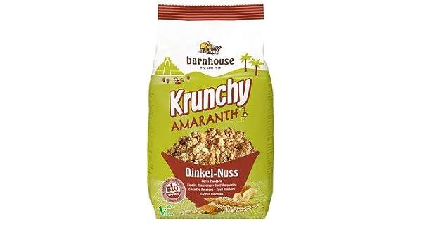 Bar House bio krunchy Amaranto nogal de espelta (1 x 375 gr): Amazon.es: Alimentación y bebidas