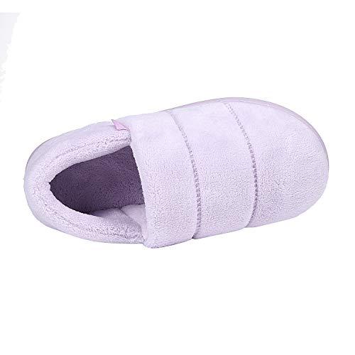 amp; Terry Foam Slippers House Slippers w Purple Velvet Sole Lightweight Outdoor Moccasin Women's Memory Indoor apzXxBSq