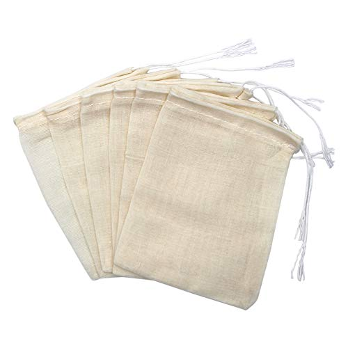 Erlvery DaMain 50 Pieces Drawstring Cotton Bags Muslin Bags, 3 x 4 Inches