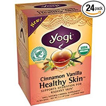Yogi Cinnamon Vanilla Healthy Skin Tea, 16 Tea Bags  (Pack of 24) by Yogi Teas