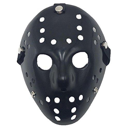 Jason Mask Halloween Costume Black - Yiseng Cosplay Horror Mask Full Face Mardi Gras Party (Jason Mask For Sale)