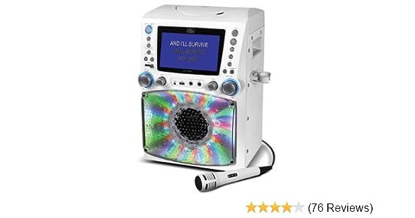 Amazon.com: Singing Machine STVG785W Karaoke Machine with Disco Lights:  Musical Instruments